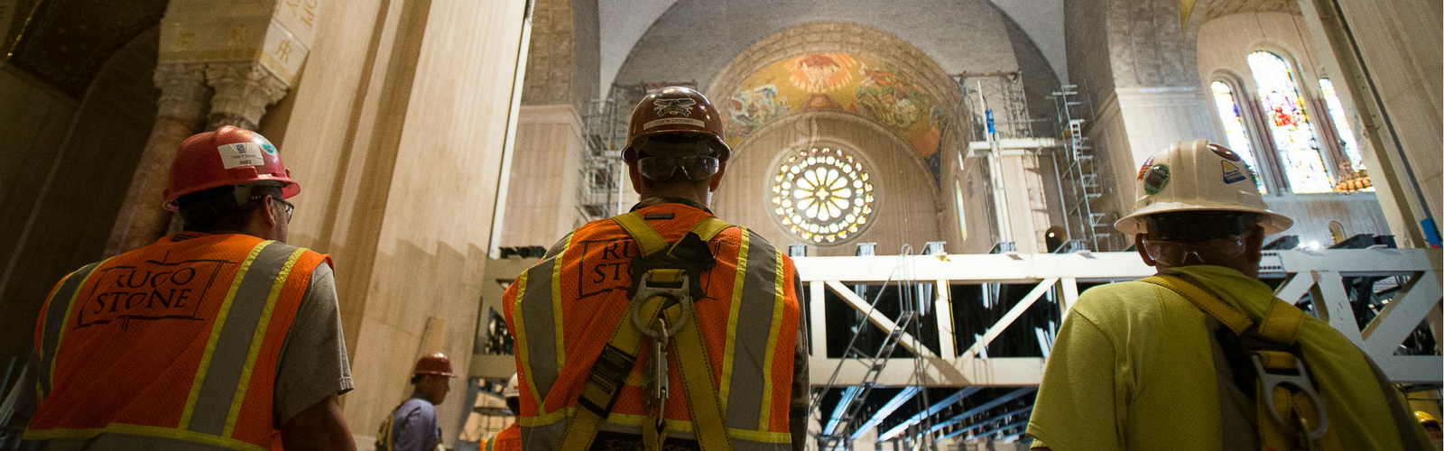 See the Artisans Install the Mosaic
